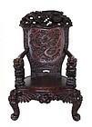 Antique Japanese Dragon Throne Chair