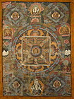 Tibetan Antique Mandala Thangka Painting