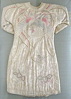 Antique Chinese Silk Robe with Phoenix and Dragons