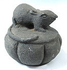 Chinese Antique Granite Weight in the form of a Mouse