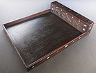 Chinese Antique Hardwood Opium Tray