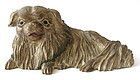 Antique Japanese Carving of Pekinese Dog