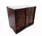 Antique Japanese Unusual Small Bar Tansu
