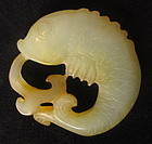 Antique Chinese Carved Jadeite Fish