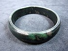 Vintage Chinese Black Jade Bangle