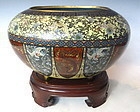 Antique Japanese Cloisonne Egg Container