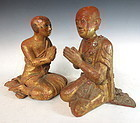 Antique Pair of Burmese Buddhist Statues