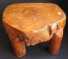 Antique Chinese Hardwood Natural Stand/Stool