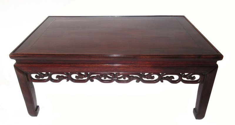 Antique Chinese Hardwood Low Table