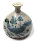Antique Japanese Crackle Porcelain Bottle
