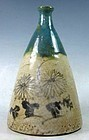 Antique Japanese Oribe Ship Bottle