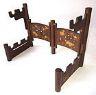 Japanese Carved Hardwood Sword Stand