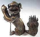 Antique Chinese Bronze Foo Dog Censor