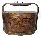 Antique Chinese Three-Tier Storage Basket