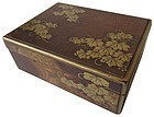 Antique Japanese Gold Lacquer Box