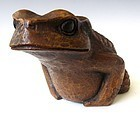 Japanese Bamboo Carved Frog