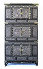 Korean Three Section Mother of Pearl Inlaid Cabinet Samch