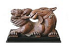 Antique Chinese Architectural Wood Carving of Beast