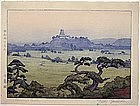 """""""Shirasagi Castle"""" Woodblock Print by Toshi Yoshida"""