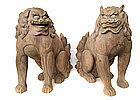 Wonderful Japanese Antique Wooden Fu-dogs