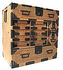 Japanese Rare Antique Kiri Tansu with Iron Work