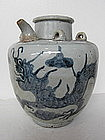 Antique Chinese Porcelain Dragon & Clouds Kendi