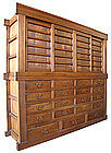 Japanese Large 2-section 19 Drawer Merchant