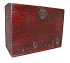 Japanese Deep Red Edo Period Trunk