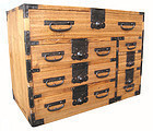Japanese Antique Small Personal Tansu with 7 Drawers