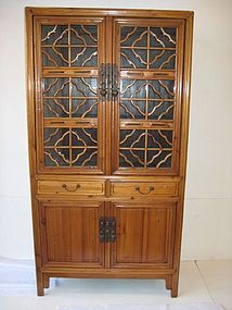 Chinese Antique Lattice Cabinet